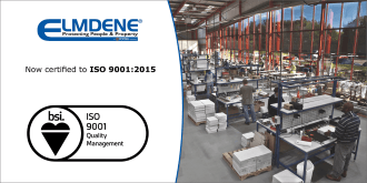 Elmdene now certified to ISO 9001:2015